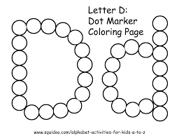 letter d dot marker coloring page 1 learning pinterest