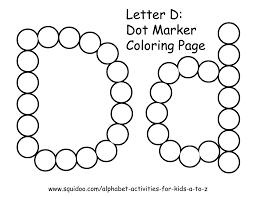 letter d dot marker coloring page 1 learning pinterest