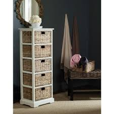Wicker Storage Chest Of Drawers Safavieh Vedette Distressed White Storage Chest Amh5739b The