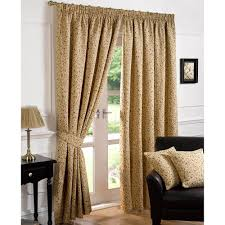 Gold Curtains 90 X 90 Sundour Harrogate Multi Red Woven Tapestry Lined Ready Made Pencil