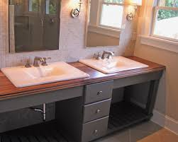 Double Vanity With Tower Bathrooms Design Two Sink Bathroom Countertop Unique Vanity