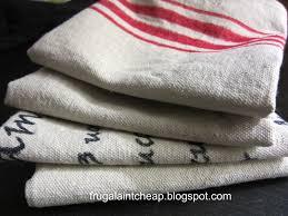 Kitchen Towel Craft Ideas Frugal Ain U0027t Cheap Set Of Kitchen Towels