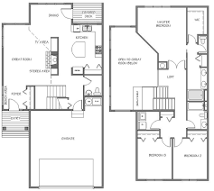 townhouse floor plans designs apartments garage floor plan garage plans with loft floor plan