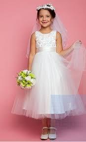 flower girl dress other lanting a line tea length flower girl dress size 0