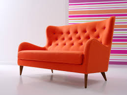 romantic modern curved sofa with orange couch design combined