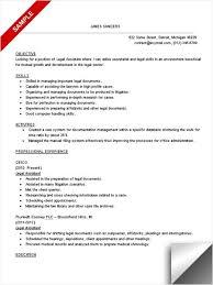 sample paralegal resumeparalegal resume sample experience resumes