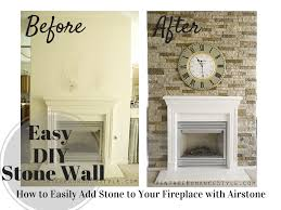 how to easily add stone to your fireplace with airstone