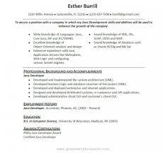 Senior Java Developer Resume Core Java Developer Cover Letter Maintenance Controller Cover Letter