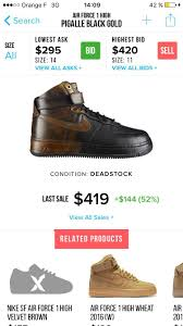 pigalle nike air force one x pigalle size 12 hi top sneakers for