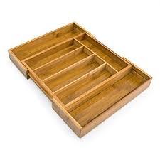 organiseur de tiroir cuisine relaxdays range couverts extensible en bambou de 5 à 7 compartiments