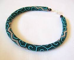 beaded necklace rope images Bead rope necklace images jpg