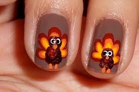thanksgiving fingernails 20 terrific turkey nail designs