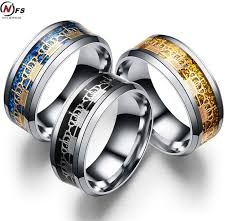 man steel rings images Nfs 8mm surface width men ring crown carbon fiber jewelry jpg