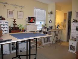 interior cool sewing room design ideas with modern white sewing