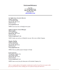 examples of references for resume reference list template free excel templates