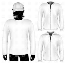 shirt and sweatshirt with zipper design template vector clipart
