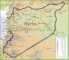 Syria World Map by Syria Physical Map