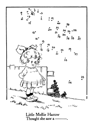 vintage kids printable connect the dots u0026 color the graphics fairy