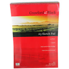 crawford u0026 black a3 sketch pad sketchpads at the works