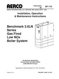aerco boiler benchmark 3 0 duct flow building automation