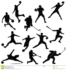sports athletes isolated silhouettes royalty free stock photo