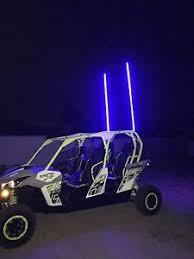 led light whip for atv 1 led light whip 300 ultra bright leds per 6 whip rf remote 20
