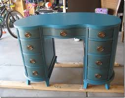 caribe blue desk power of paint