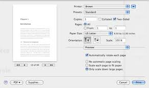 printing multiple pages per sheet mac os x