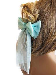 hair accessories for women hair clip ribbon hair headband mint tulle hair accessories