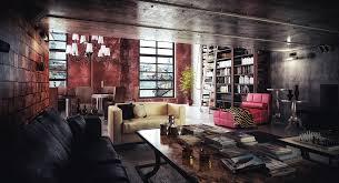 Dark Red Sofa Set Living Room Black Velved Design Modern Creative Living Room