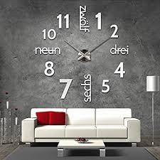 moderne wanduhren wohnzimmer moderne wanduhren wohnzimmer de 3d silberne riesen
