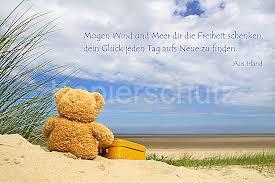 meer sprüche mö wind und meer teddy am meer www stimmungs bilder de