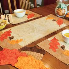 Kitchen Table Runners by In Our Kitchen Fall Quilted Table Runner Place Mats Pads