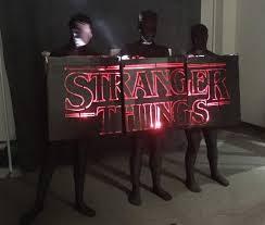 halloween costume lights stranger things u0027 logo lights up as halloween costume cnet