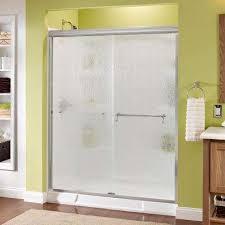 tempered glass shower door shower doors showers the home depot