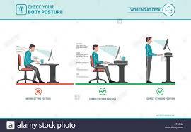 Computer Desk Posture Correct Sitting At Desk Posture Ergonomics Advices For Office