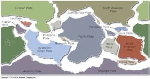 Plate Boundaries Map Plate Tectonics