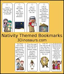 nativity themed bookmarks with scriptures 3 dinosaurs