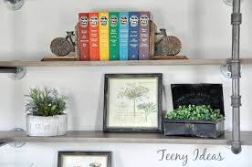 Industrial Pipe Bookcase Diy Industrial Pipe Shelves Teeny Ideas