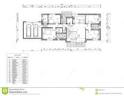 floor plan of the single family house stock illustration image