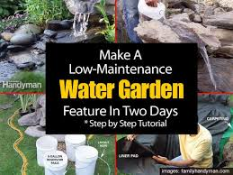 make a low maintenance garden water feature in two days