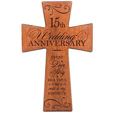 15th anniversary gifts 15th wedding anniversary gifts for him cherry wood wall cross