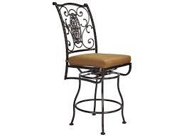 outdoor cast iron swivel bar stool with ornate backrest of stylish