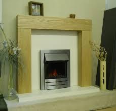 fireplace surround the sanderson white marble oak veneer light