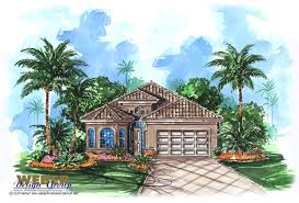 mediterranean house plan for narrow lot lanai outdoor