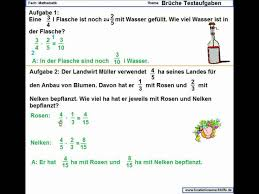 mathe brüche klasse 6 brüche textaufgaben übung schwer