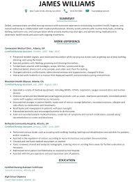 nursing assistant resume exles cna resume sle resumelift