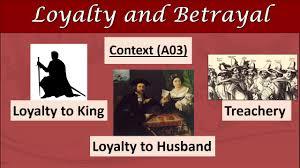 betrayal themes in literature macbeth revision loyalty and betrayal youtube