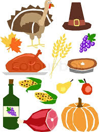 set of thanksgiving symbols vector illustration stock vector