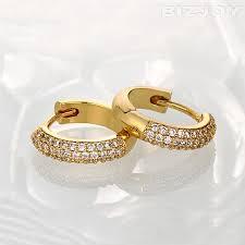 gold earrings in shape unique ring shaped gold earrings jewellry s website